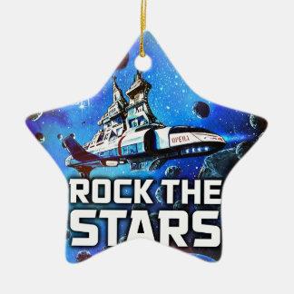 Rock The Stars Ceramic Ornament