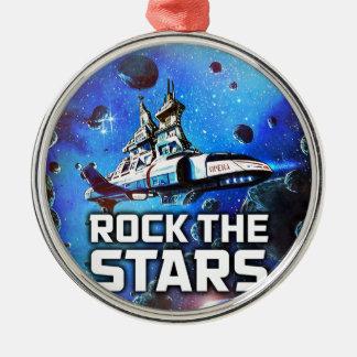 Rock The Stars Metal Ornament