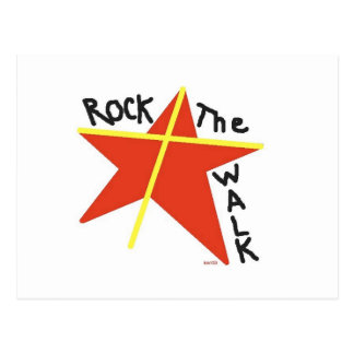 Rock the Walk with Jesus! Postcard