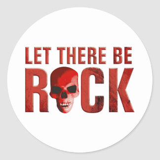rock there let skull habla pegatina redonda