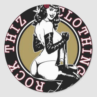 Rock Thiz Clothing Pinup Girl Stickers