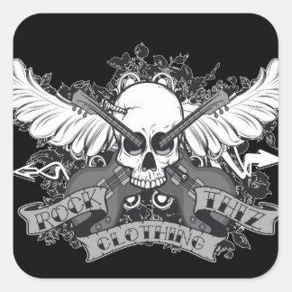 Rock Thiz Clothing Sticker Skull,Wings & Guitar
