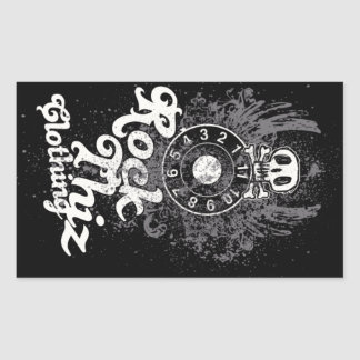Rock Thiz Clothing Stickers Skull & Numbers #2