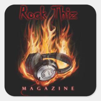 Rock Thiz Magazine Headphone & Fire Stickers