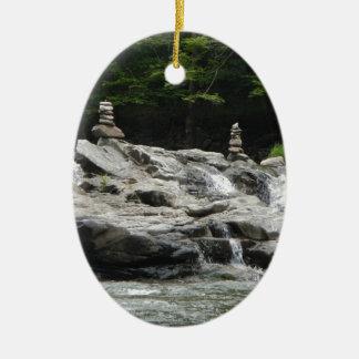 Rock Towers Ceramic Ornament