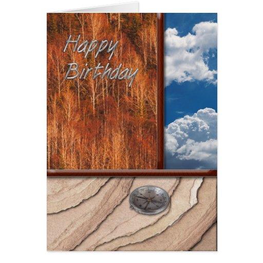 Rock Trees Sky Birthday Greeting Cards