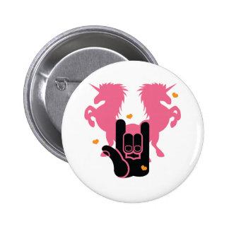 ROCK Unicorns 2 Inch Round Button