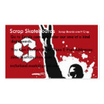 Rock Up, Scrap Skateboards, Go to Zazzle.com an... Business Cards