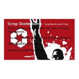 Rock Up, Scrap Skateboards, Go to Zazzle.com an... Business Card