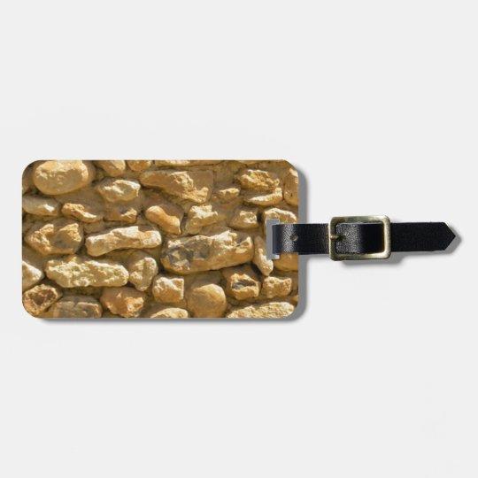 Rock Wall Bag Tag