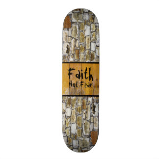 Rock Wall Faith Skateboard Deck