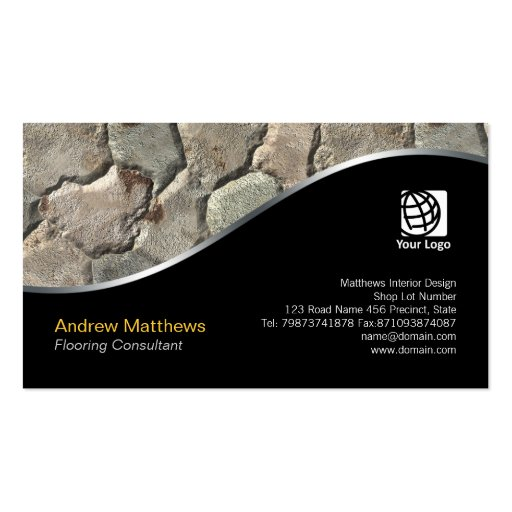 Climbing Wall Design Company : Rock wall texture interior design business card zazzle