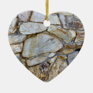 Rock Wall Texture Photo on Heart Shaped Ornament