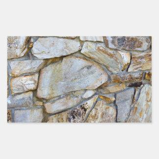 Rock Wall Texture Photo on Heart Shaped Sticker