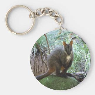Rock Wallaby Key Ring Keychain