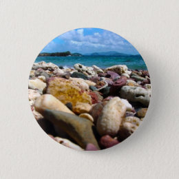 Rock-Water-Sky Pinback Button