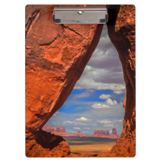 Rock window to Monument Valley, AZ Clipboard
