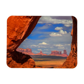 Rock window to Monument Valley, AZ Magnet