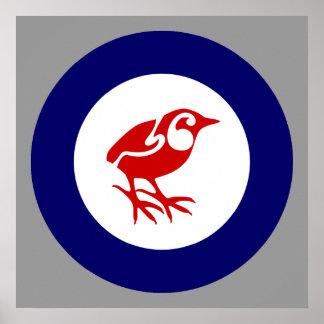 Rock Wren New Zealand bird poster