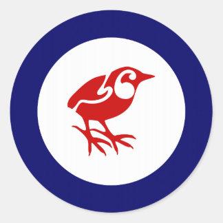 Rock Wren Roundel Round Sticker