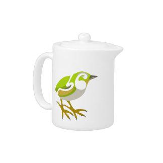 Rock Wren, South Island, NZ bird Teapot