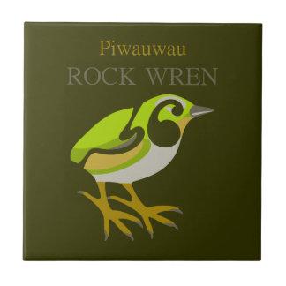 Rock Wren, South Island, NZ bird Tiles