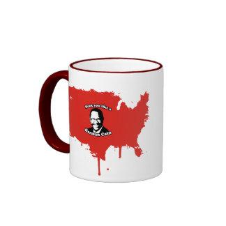 Rock you like a Herman cain Ringer Coffee Mug