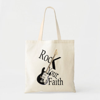 Rock Your Faith-Guitar Tote Bag