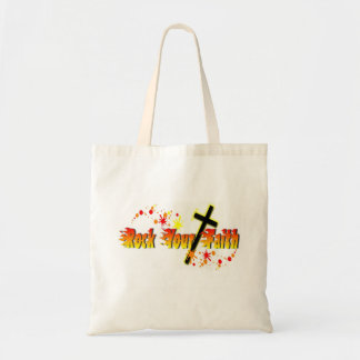 Rock Your Faith (red splatter) Tote Bag