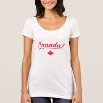 Rock your nation t-shirt - Canada! - White/Red