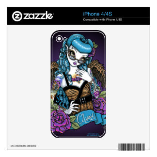 Rockabilly Baby Tattoo Angel iPhone 4/4S Skin Skins For iPhone 4S