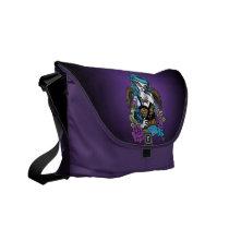rockabilly, angel, tattoo, billy, teal, fairy, classy, roses, banner, tiger, faery, fantasy, art, mykajelina, Rickshaw messenger bag with custom graphic design