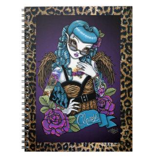 Rockabilly Baby Tattoo Leopard Angel Notebook