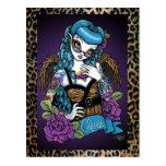 Rockabilly Baby Tattoo Leopard Angel Postcard