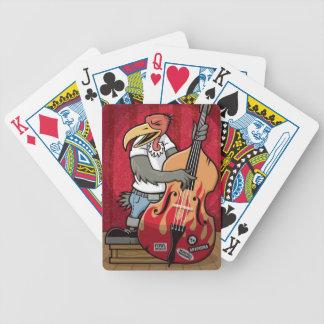 Rockabilly Bird Bicycle Poker Deck