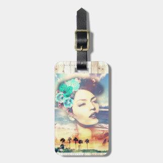 Rockabilly California Palms Coastal Summer Woman Bag Tag
