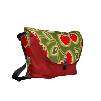 Rockabilly Cherry Pattern Courier Bag