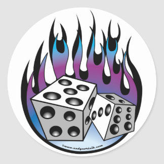 Rockabilly Classic Round Sticker