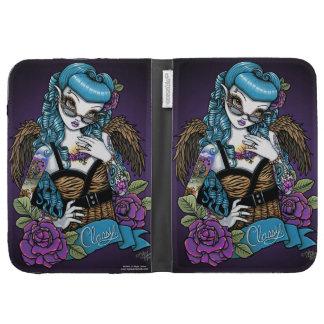 Rockabilly Classy Retro Tattoo Angel Kindle Case