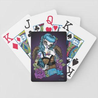 Rockabilly Classy Retro Tattoo Angel Playing Cards