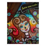 Rockabilly Day of the Dead by Prisarts Poster