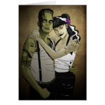 Rockabilly Frank and Bride Greeting Cards