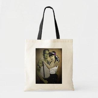 Rockabilly Frank and Bride Tote Bag