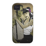 Rockabilly Frank y novia iPhone 4 Carcasas