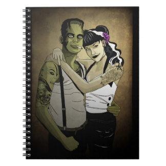 Rockabilly Frank y novia Notebook