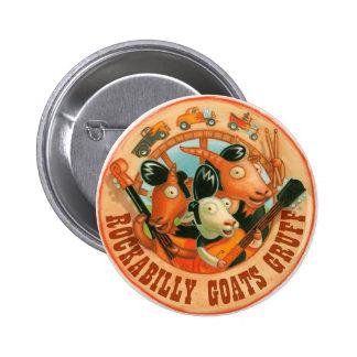 Rockabilly Goats Gruff - Button