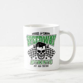 Rockabilly Hot Rod Racer Skull Coffee Mug