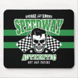 Rockabilly Hot Rod Racer Skull Mouse Pad