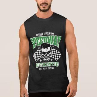 Rockabilly Hot Rod Racer Skull Sleeveless T-shirt