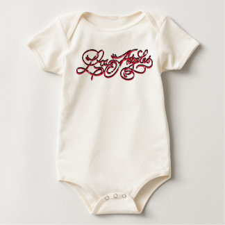 Rockabilly Los Angeles Baby creeper Red